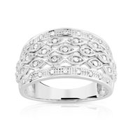 Bague or 750 blanc diamant