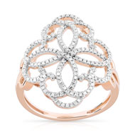 Bague or 750 rose diamant