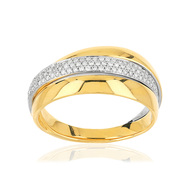Bague 2 ors 750 diamants