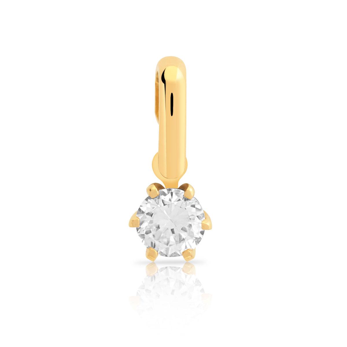 14c78adec60 Pendentif or 750 jaune diamant - Femme - Pendentif