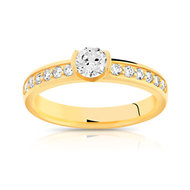 Solitaire or diamants 0.60 carat H/P1