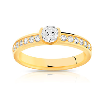 Solitaire or diamants 0.60 carat H/P1 - vue V1