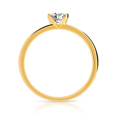 Solitaire or diamants 0.60 carat H/P1 - vue 2