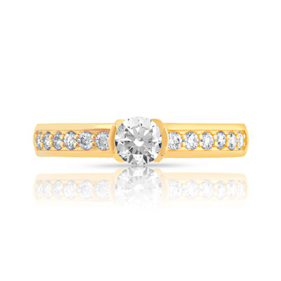 Solitaire or diamants 0.60 carat H/P1 - vue 3