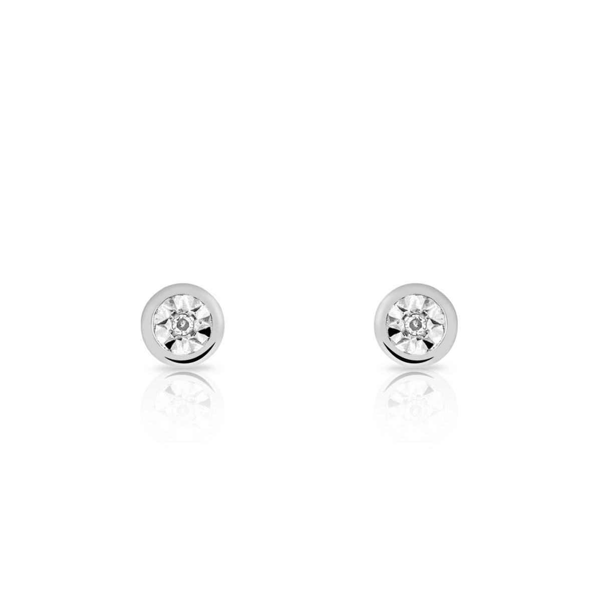 moins cher 78897 3dc9d Boucles d'oreilles or 750 blanc diamant