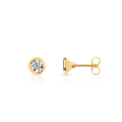 Boucle d'oreille or jaune 750