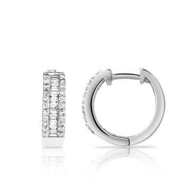 Créoles or 750 blanc diamant - Femme - Créoles   MATY 531f4132512e