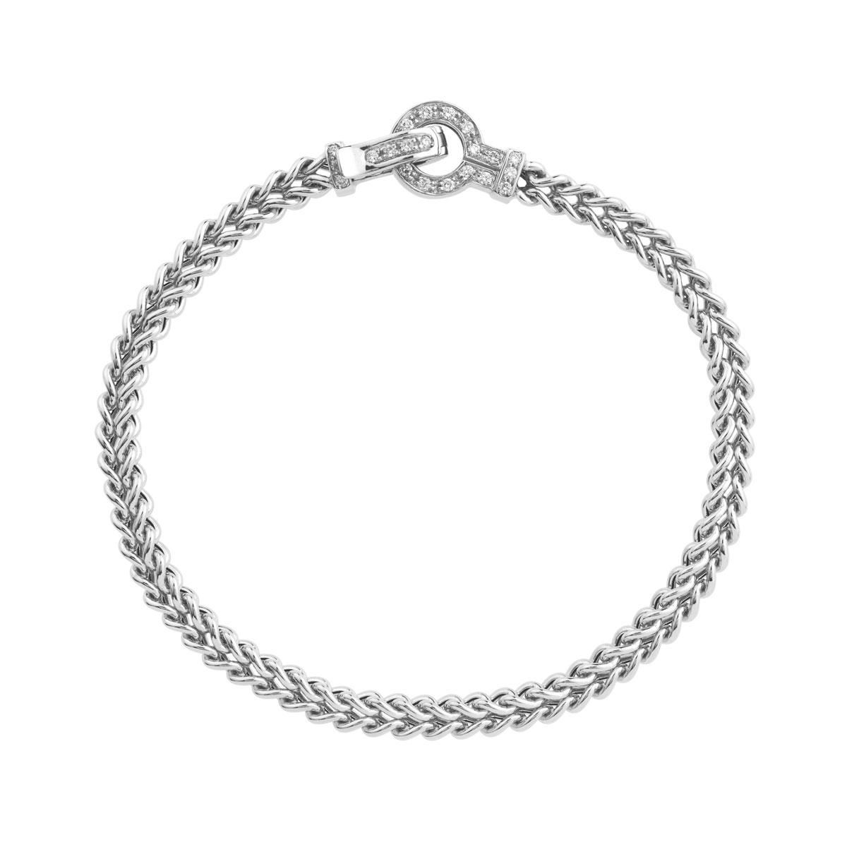 le dernier 065ac 74886 Bracelet or 750 blanc diamant