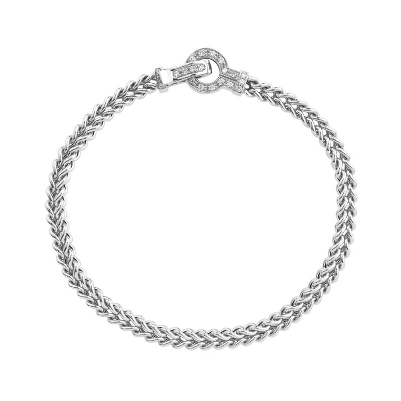 bracelet or 750 blanc diamant femme bracelet maille souple maty. Black Bedroom Furniture Sets. Home Design Ideas