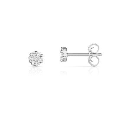 moins cher 174ba eac77 Boucles d'oreilles or 750 blanc diamant