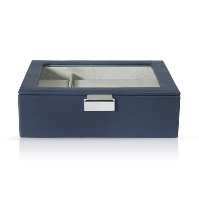 coffret montres cuir imitation bleu marine femme id es cadeaux maty. Black Bedroom Furniture Sets. Home Design Ideas