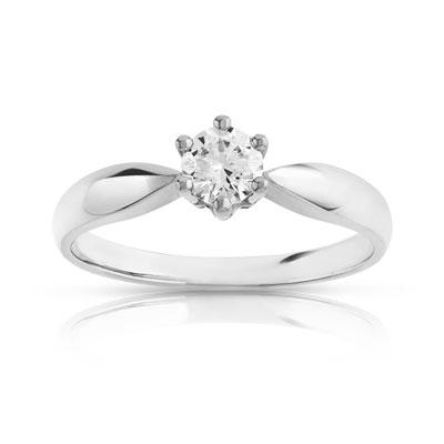 bague solitaire diamant platine