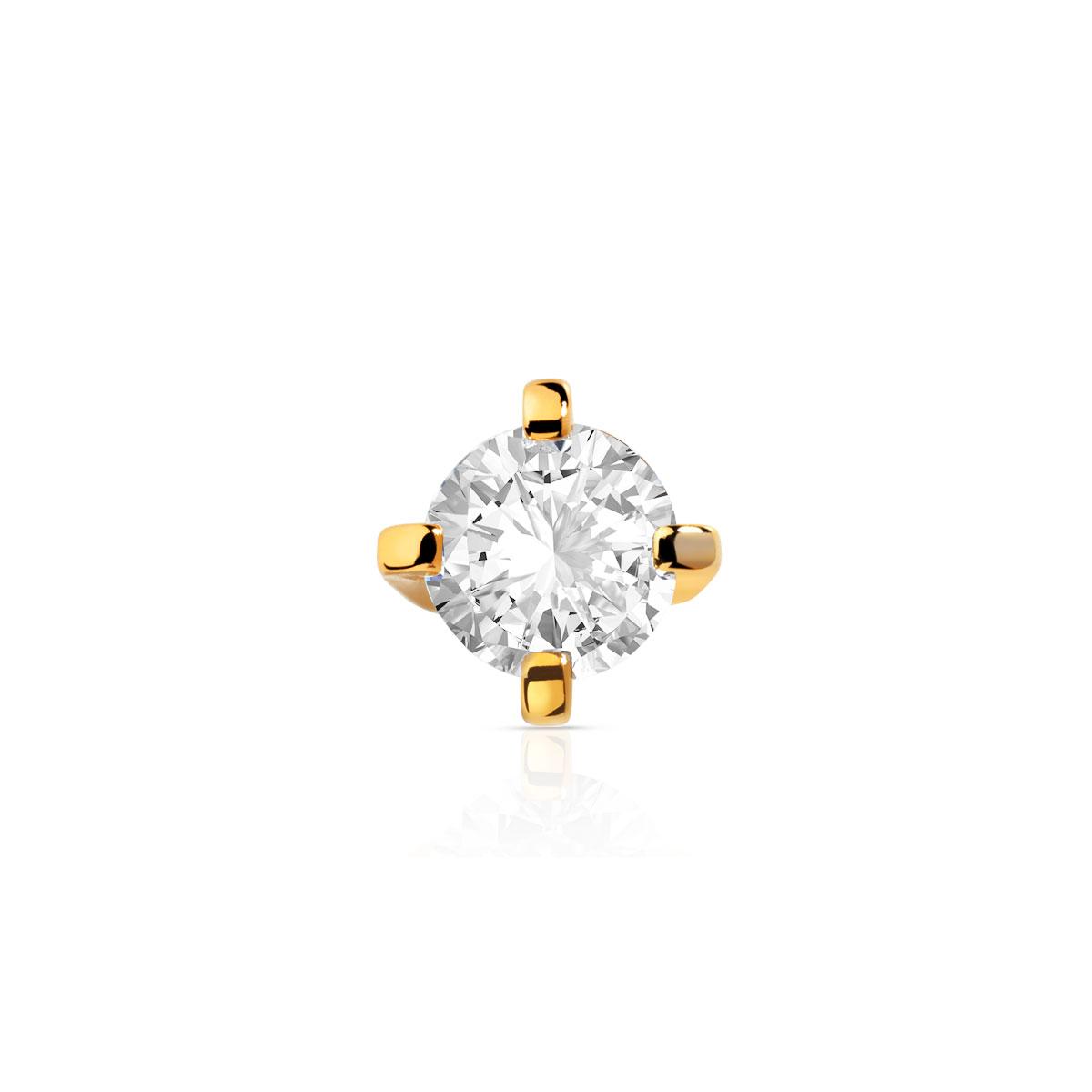sélection premium a0be3 20bd6 une boucle d'oreille or 750 jaune diamant