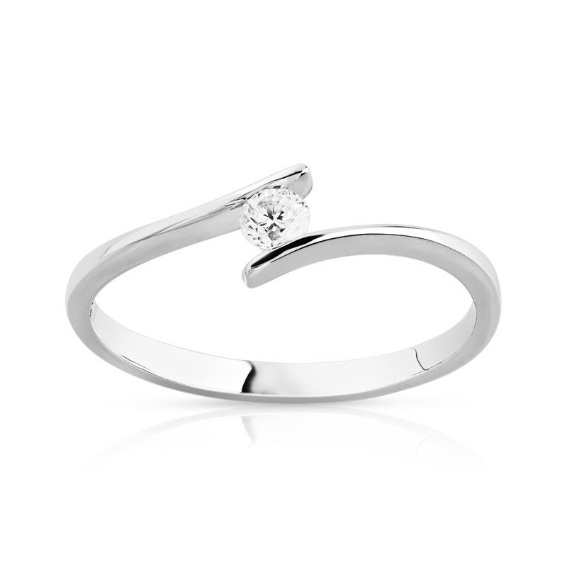 bague solitaire or 750