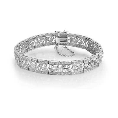 Bracelet argent 925 zirconia , vue 1