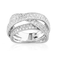 Bague or 750 blanc diamant 1,70 carat