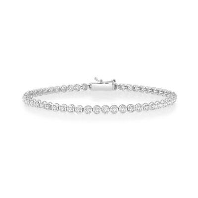 Bracelet or 750 blanc diamant , vue VD1