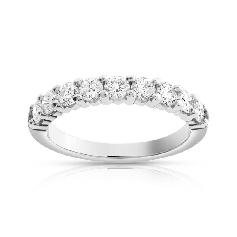 alliance demi tour or 750 blanc diamant femme 9 diamants maty. Black Bedroom Furniture Sets. Home Design Ideas