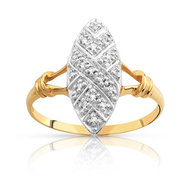 Bague or 750 2 tons diamant