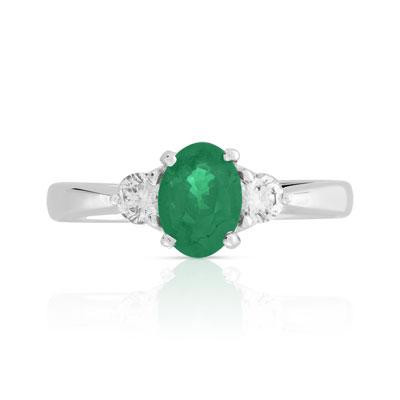 Bague jade diamant