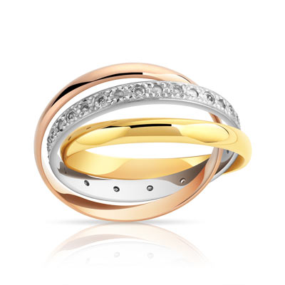 Favori Alliance 3 ors 750 diamant - Femme - 16 diamants | MATY IB75