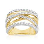 Bague 2 ors 750 diamant