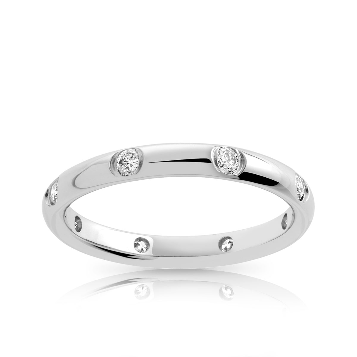 alliance or 750 blanc diamant femme 8 diamants maty. Black Bedroom Furniture Sets. Home Design Ideas