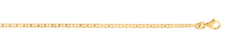Chaine maille marine or 375 jaune 45 cm