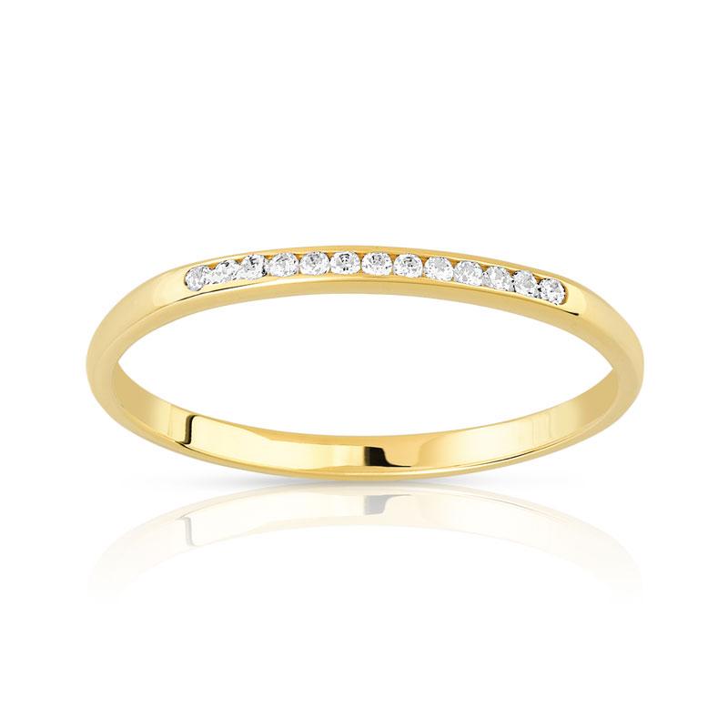 alliance or 375 jaune diamant femme 13 diamants maty. Black Bedroom Furniture Sets. Home Design Ideas