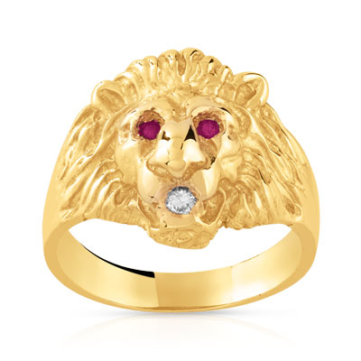 Bague homme or 375