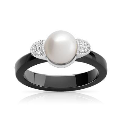 bague ceramique or 375 blanc diamant bijoux populaires. Black Bedroom Furniture Sets. Home Design Ideas