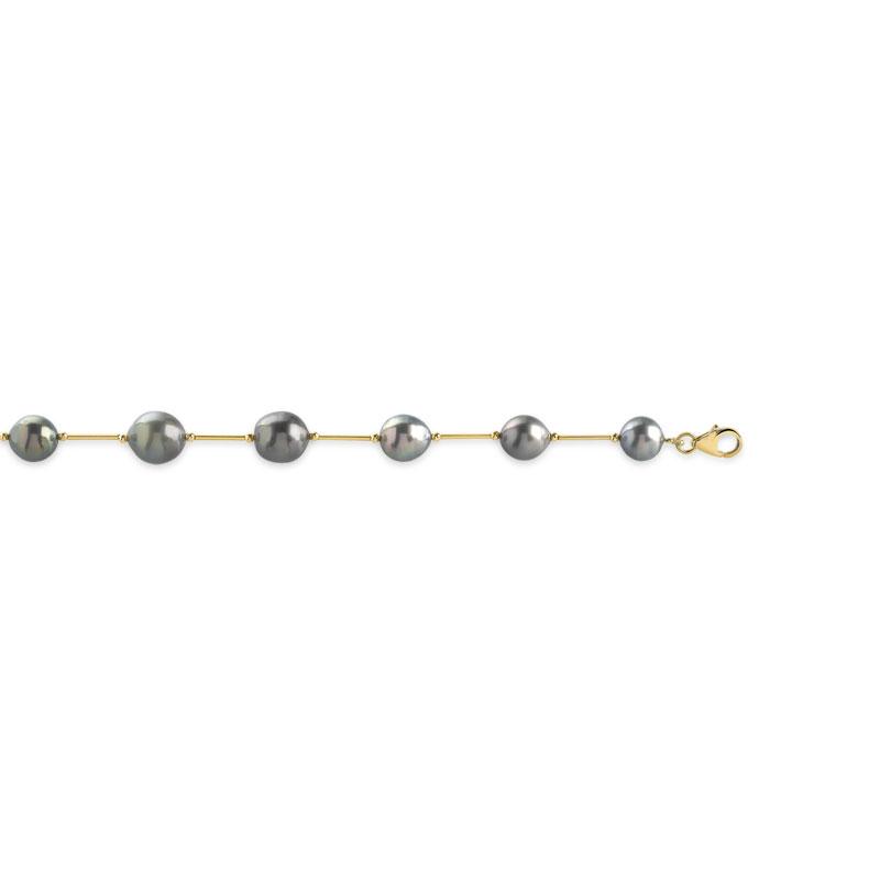 bracelet or 375 jaune perle de culture de tahiti femme bracelet maille souple maty. Black Bedroom Furniture Sets. Home Design Ideas