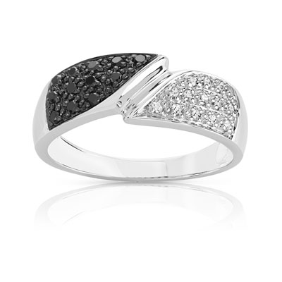 bague diamant or blanc maty