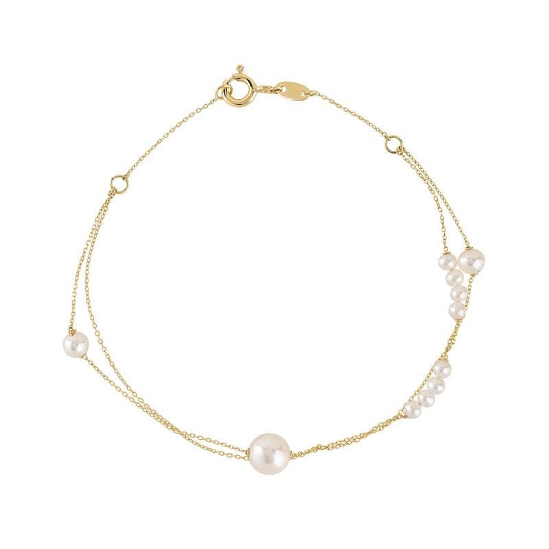 bracelet or 375 jaune perle de culture de chine femme bracelet maille souple maty. Black Bedroom Furniture Sets. Home Design Ideas
