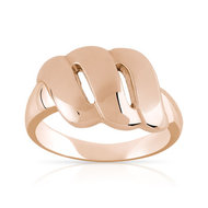 Bague or 375 rose