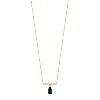 Collier or 375 jaune onyx
