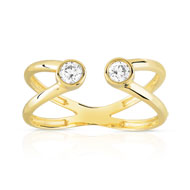 Bague or 375 jaune zirconia
