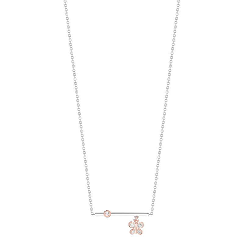 Collier 2 ors 375 diamant - vue 1