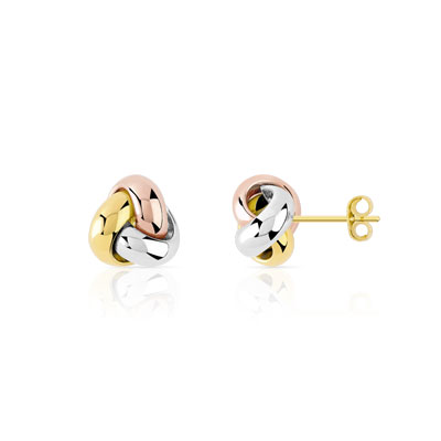 Boucles d'oreilles anneaux 3 ors