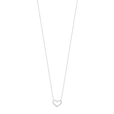 Collier or 375 blanc diamant - vue V1