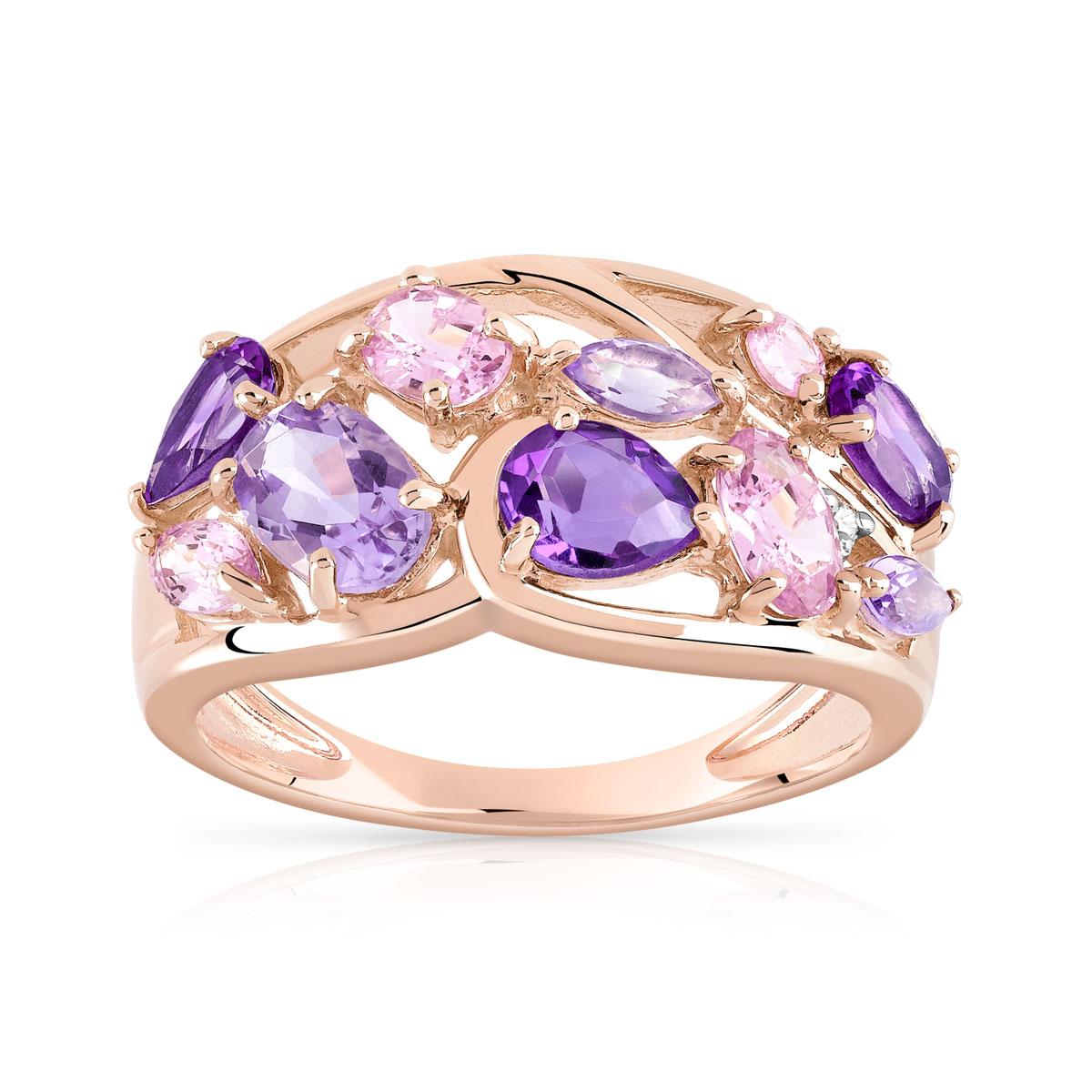 bague diamant amethyste
