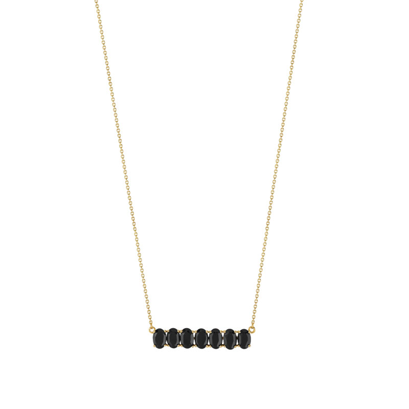 Collier or 375 jaune onyx - vue V1