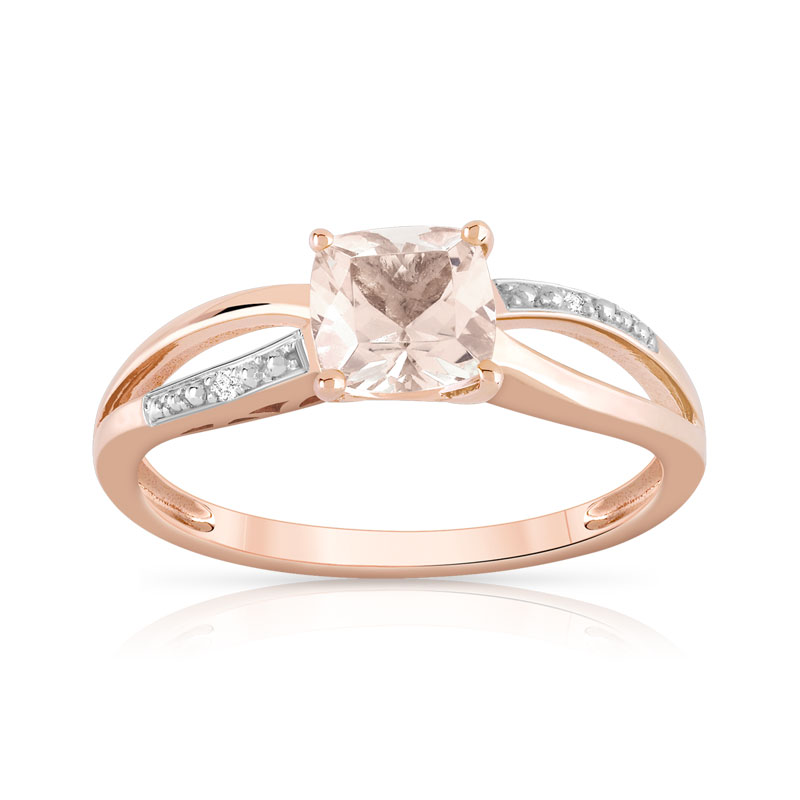bague or jaune morganite