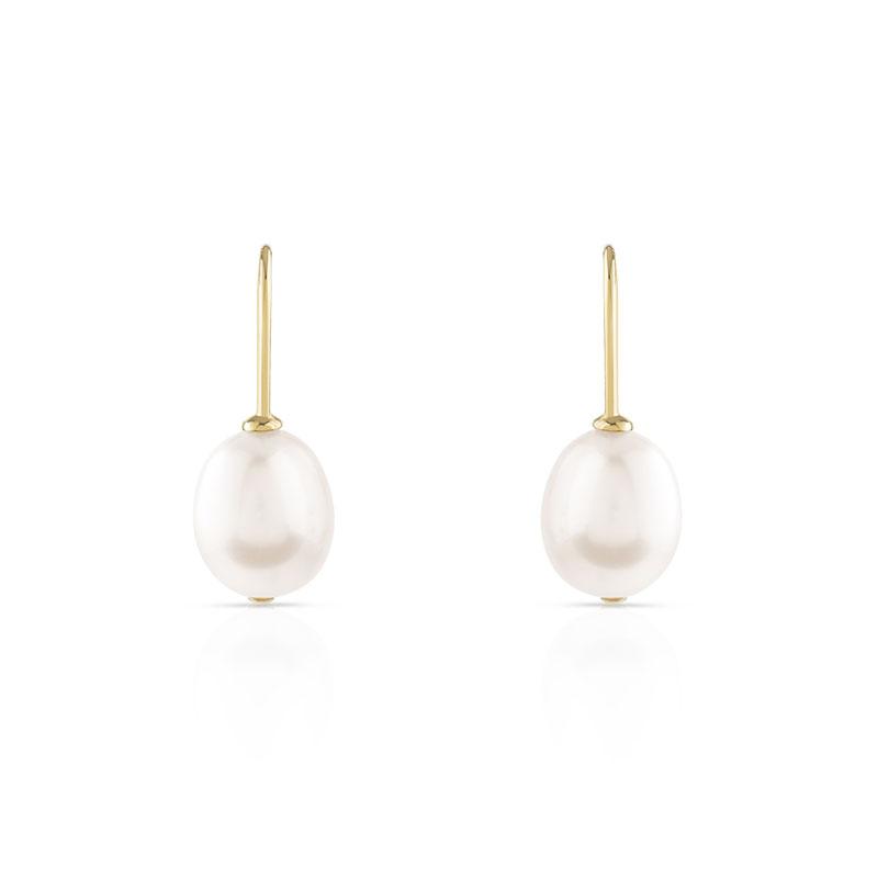 Boucles d/'oreilles puces Idée cadeau Diamètre 8 mm perle beige