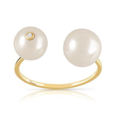 bague perle ouverte