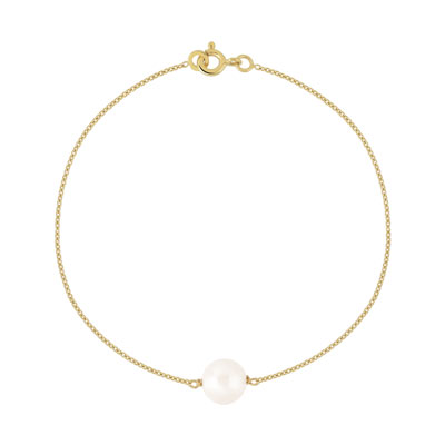 bracelet femme perle de culture blanc