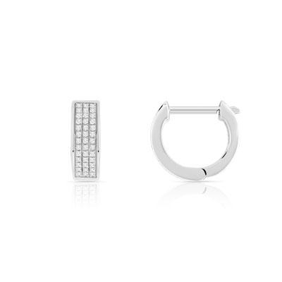 Creoles or 375 blanc diamant - Femme - Créoles   MATY 0e1fa2d11fe9