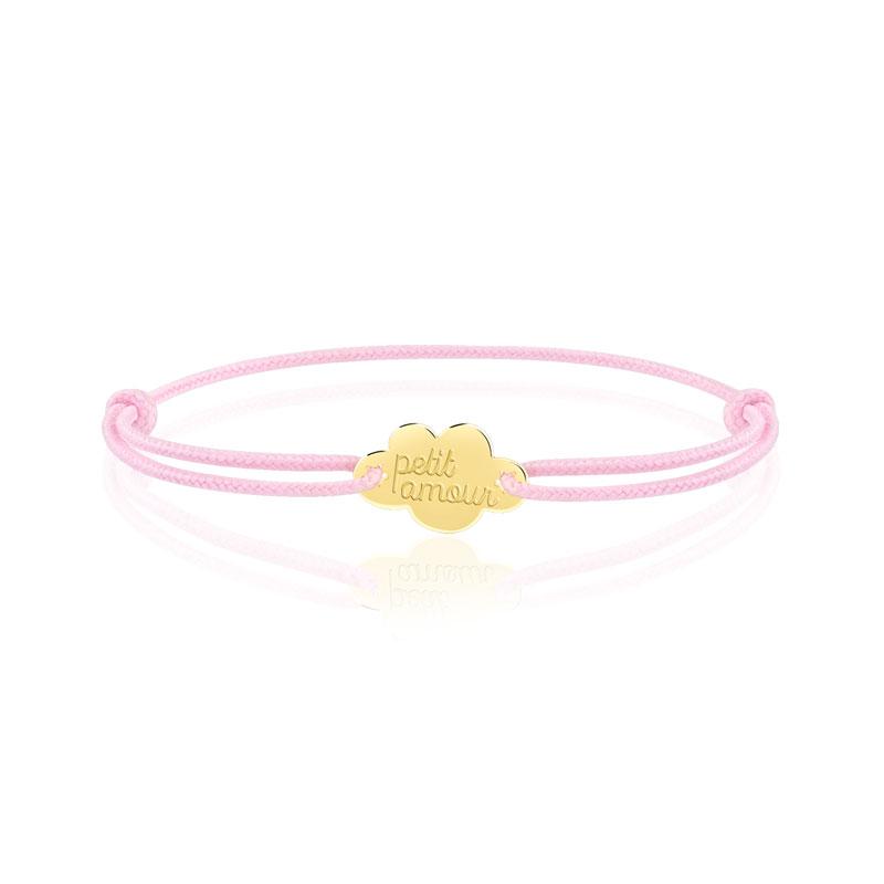 nouvelle collection publier des informations sur haute couture Bracelet or 375 jaune sur cordon