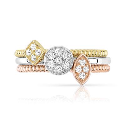 Bague 3 ors diamant maty