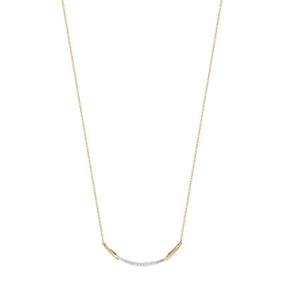 Collier or 375 2 tons diamant - vue 1